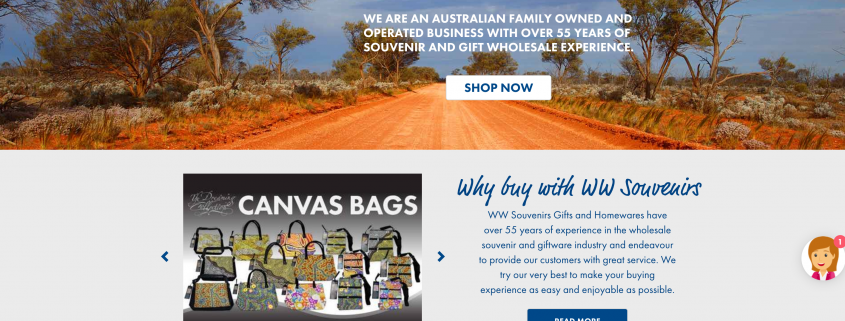 Mobile Responsive website for WW Souvenirs